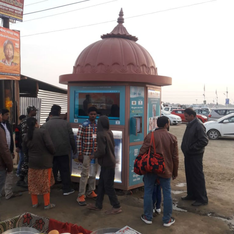 Pi-lo Water ATM at Kumbh 2019Pi-lo Water ATM at Kumbh 2019